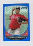 Blue Refractor Bowman Chrome Mini Francellis Montas Card